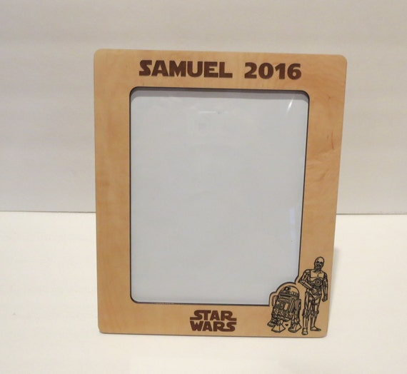 Star Wars 5x7 or 8x10 (Your Choice) Picture Frame Personalized Frame ...