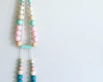 Ice-Cream is Going to Save the Day - Silicone & Timber Necklace {pink only}.