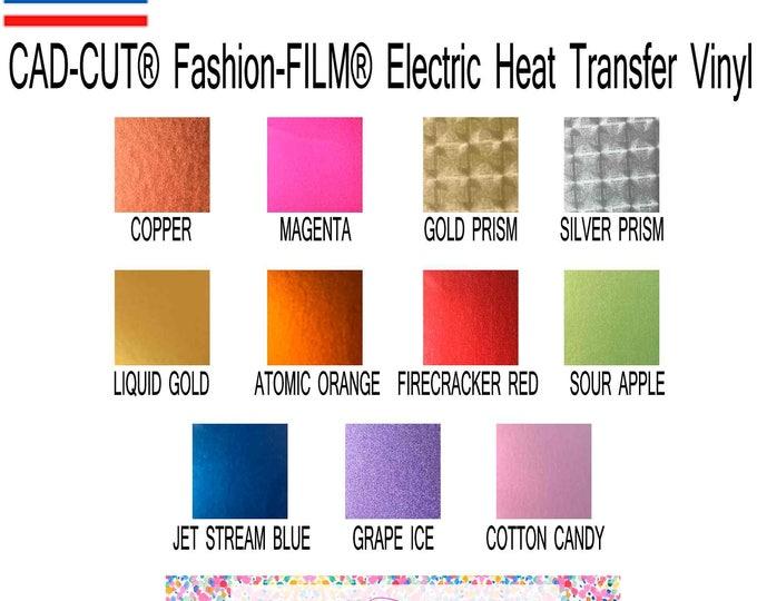 Featured listing image: Stahls'® CAD-CUT® Fashion-FILM® Electric Heat Transfer Vinyl sheet 12x15 inch metallic