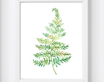 Fern Leaf print, printable art, Palm leaf print, Nature, Nature print, Botanical print, Palm leaf, Print art, palm print, Tropical leaf