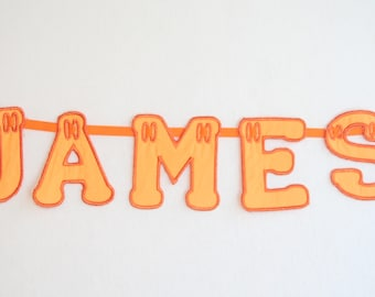 Personalised Name Bunting Orange