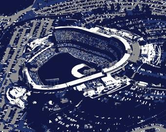 Los Angeles Dodgers art, Dodger Stadium, LA Dodgers, canvas print, baseball art, man cave, groomsman gift, child's bedroom