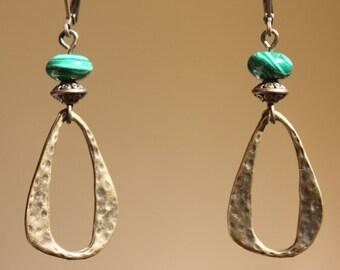 Green Earrings Brass Earrings Boho Earrings Bohemian Earrings Dangle Drop Earrings Boho Jewelry Gifting Ideas Gift For Her Gift For women