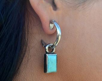 Rockin Out Jewelry - Arrow Hoop with Kingman Turquoise Drop