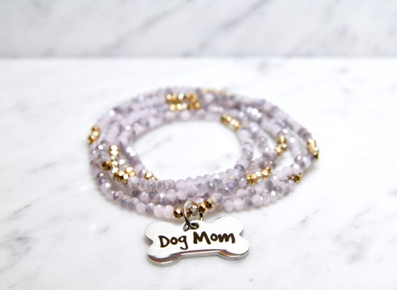 Dog Mom | Stay at Home Dog Mom | Dog Mom Gift |  Dog mom necklace | Dog mom jewelry | Fur Mama | Dog bone necklace | Dog lover gift