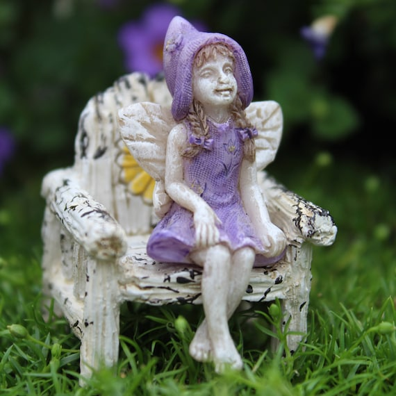 "Itty Bitty Betty Fairy (2"" Tall) for the Fairy Garden (Chair not included)"