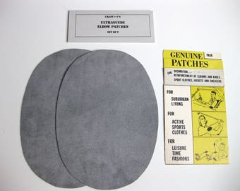 Elbow Patches - Dark Gray Ultrasuede - Set of 2