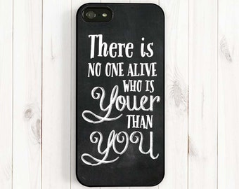 Dr Seuss Inspirational Quote iPhone Case Chalkboard Quote iPhone 7 6 Case, Samsung Galaxy , There is No One Alive Who is Youer Than You Qt01