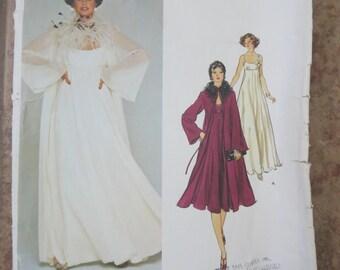 Vogue 1315 size 12 Misses Evening dress and coat