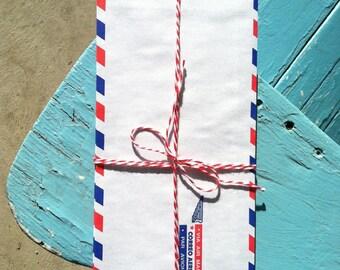 Vintage Air Mail Envelopes Bundle of 12, Par Avion, Correo Aereo