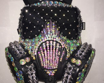 Burningman mask Free 2 day shipping around USA comes with black and clear interchangeable lens