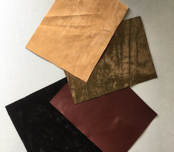 """Vintage faux suede and leather fabric - 1/2 yard of 56"""" wide medium weight in a choice of colours"""