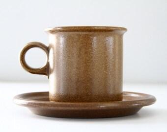 Vintage Eslau Danmark Tue Poulson Maren Stoneware Cup and Saucer