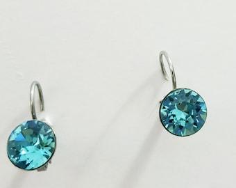 Turquoise CRYSTALIZED Swarovski element earrings