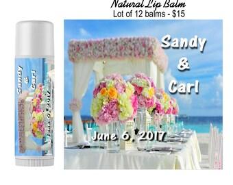 Personalized wedding favors/lip balm/reception/décor/labels/party favors/bridal/shower/bachelorette/moisturizing/chapstick/all natural
