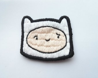 Adventure Time Patch Finn Embroidered Patch Gift Applique Brooch