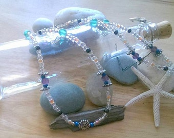 Silver Swirl Beaded Necklace