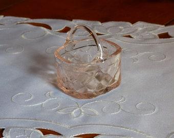 Mini Pink Glass Basket