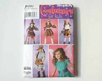 Simplicity Costumes For Kids 3680 Paper Sewing Pattern Size A 3, 4, 5, 6, 7, 8
