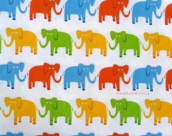 Elephant Fabric, Jungle Party 15058 Robert Kaufman, Edward Miller, Elephant Quilt Fabric, Cotton Fabric for Children