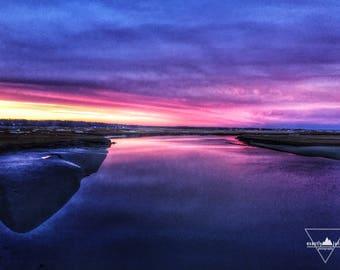 Purple Sunset - Wells Beach, Maine - Photogrpahy