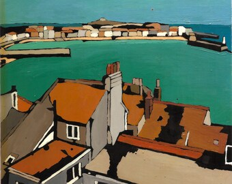 Roof tops, St Ives, Giclee Art Print