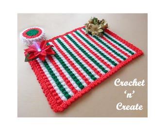 Crochet Christmas Table Mat Crochet Pattern (DOWNLOAD) CNC84