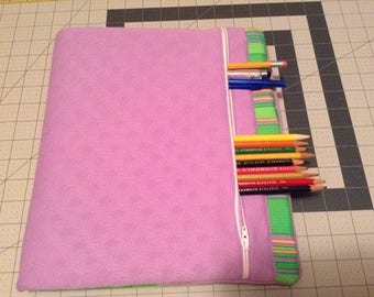 3 Ring Binder Cover w/zipper pocket