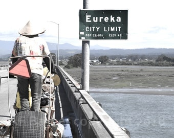 Eureka California - Kinetic Sculpture Race Humboldt County CA - Humboldt Bay - photo print image by AF Barber