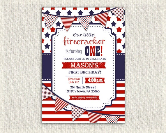 red white and blue birthday invitations koni polycode co