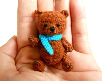 Mini Crocheted Bear - Miniature Bear Stuffed Animals - Made To Order