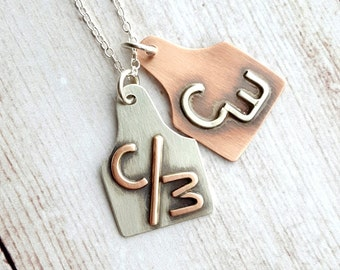 Silver OR Copper Brand Pendant
