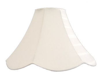 Bell lampshade etsy white scalloped bell table lamp shade perfect for decorating large size mozeypictures Choice Image
