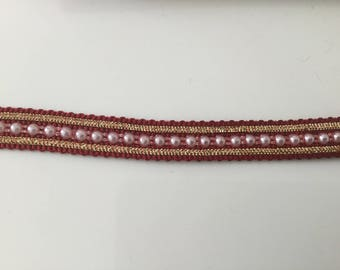 Burgundy Pearl Ribbon