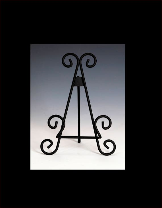 Display Stand Plate Stand Easel Wrought Iron Stand Cutting