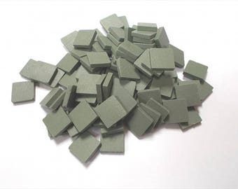 Mosaic Sheet, 75 Tiles. Cactus Green porcelain Great tiles very easy to use and cut.
