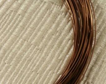 21 Gauge Half Round Vintage Bronze Colored Copper Wire