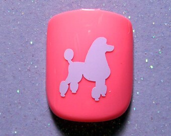 Poodle vinyl nail decals, poodle gifts, nail stickers, planner stickers