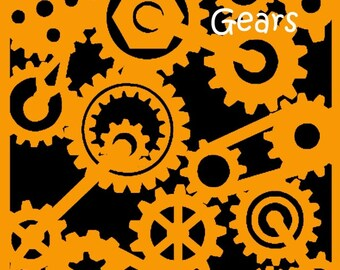Gears Stencil by Buttercup Love Designs