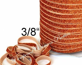 5yd-Glitter Elastic-ORANGE-3/8""