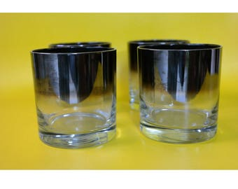 60's silver rim thorpe tumbler cups S|4