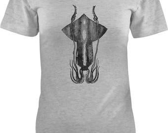 Austin Ink Apparel Slim Fit Giant Squid Soft Triblend Short-Sleeve T-Shirt