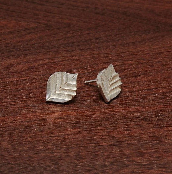 Mod Leaf Earrings- Distinctive Design - Reminiscent of Bold Fabric Patterns & Delicate Details - Sweet Sophisticated Organic Nature Lovely