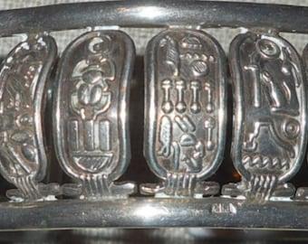 Vintage Egyptain silver kartouche bracelet