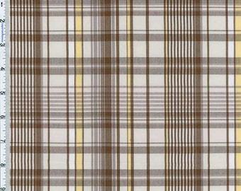 Brown Dunbar Plaid Cotton Blend, Fabric By The Yard