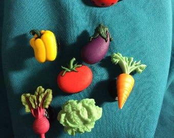 Cute Vegetable/Produce Veggie Veggies Patch Garden Clog Shoe Charms