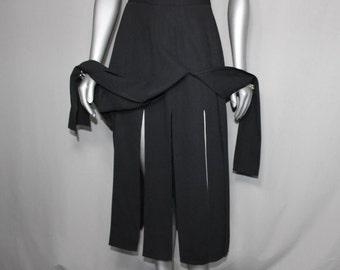 Black Illusion Skirt Surprise Reveal in Movement