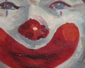 Vintage Clown Canvas Painting