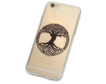 Celtic Tree of Life Phone Case for iPhone 5, SE, 6, 6 Plus, 7, 7Plus, 8, 8 Plus and X. TPU or Wood Options