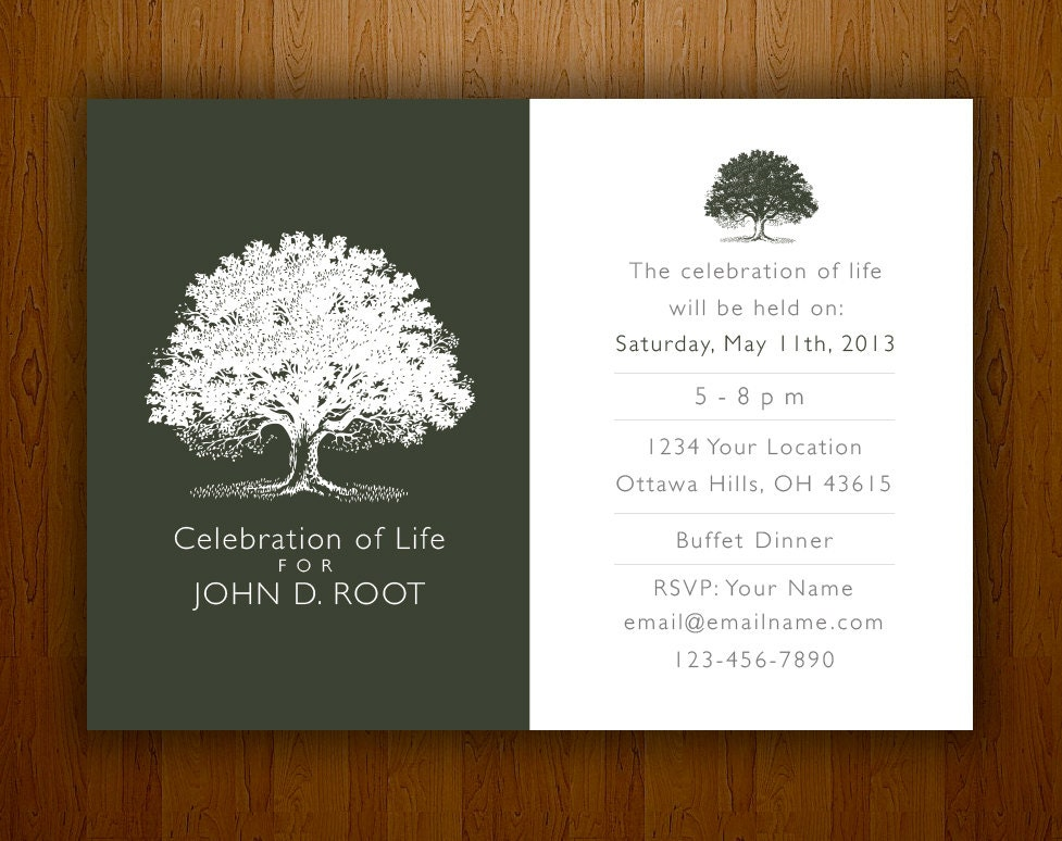 Mourning card for memorial funeral announcements or invites zoom stopboris Gallery